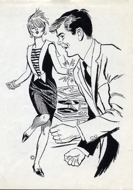 1960s clipart dancing