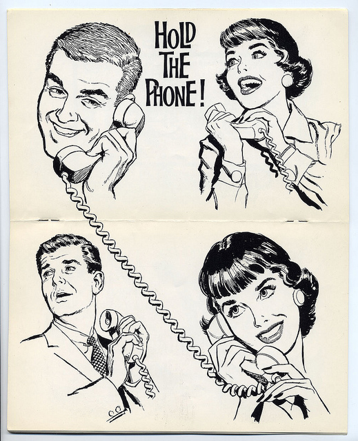 1960s phone clip art