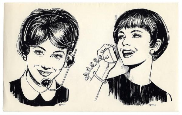 1960s phone operator art