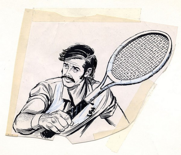 60s Tennis Clipart