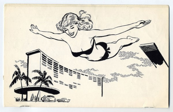 poolside 60s clipart