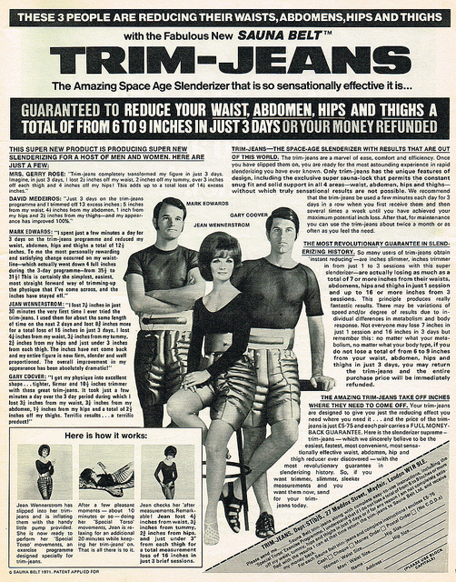 Advert for Trim Jeans