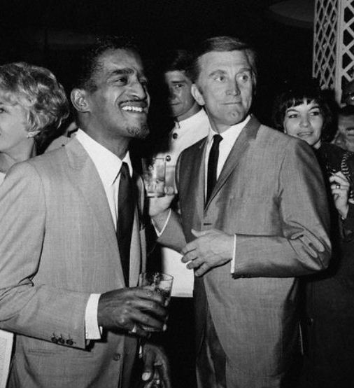 Sammy Davis Jr and Kirk Douglas