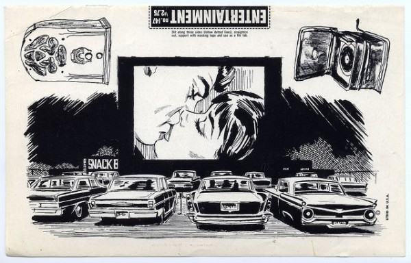 drive in 60s clip art