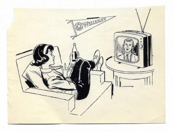 teen clip art 1960s