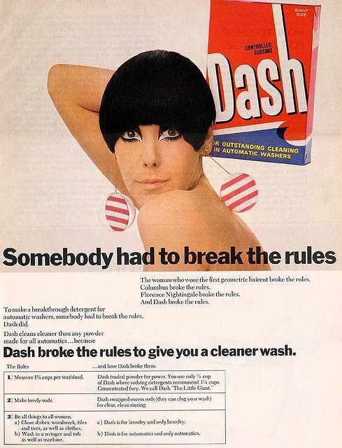 1960s washing powder ad