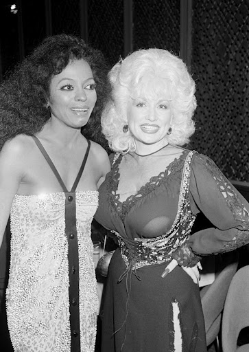 Dolly Parton and Diana Ross
