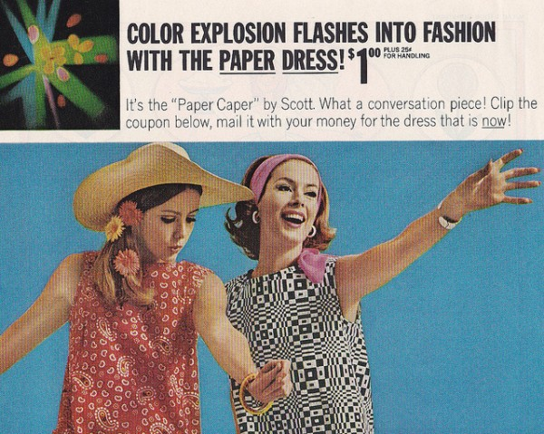 Paper Dress 1960s Advert