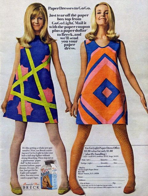 Swinging Sixties Paper Dresses Voices Of East Anglia