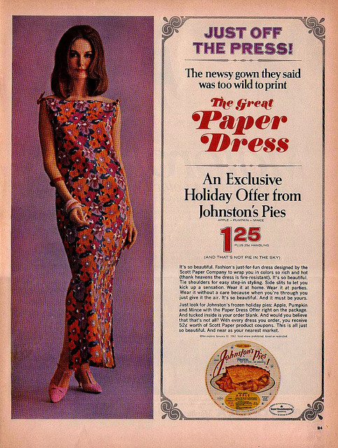Paper Dress Advert