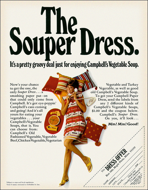 Paper Dress Campbell Soup 1960s