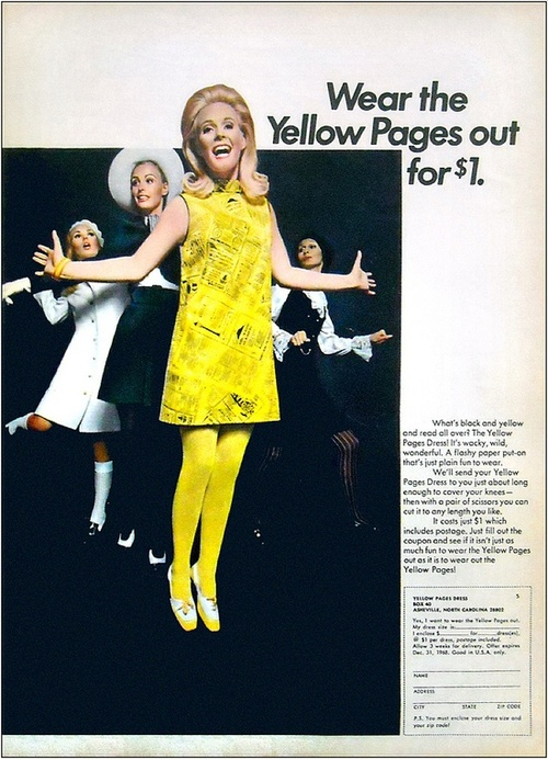 Paper Dress Yellow Pages