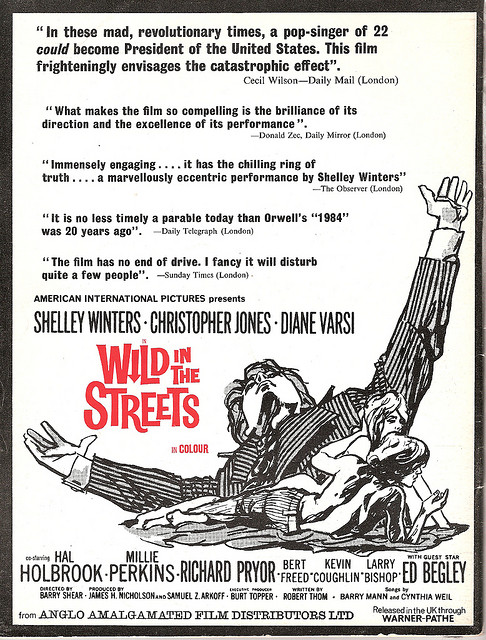 Wild in the streets film poster