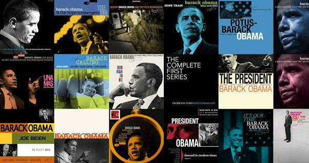 Obama Jazz Album Covers