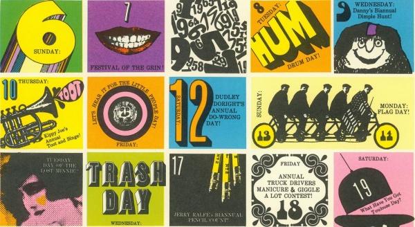 Psychedelic Hallmark Calendar