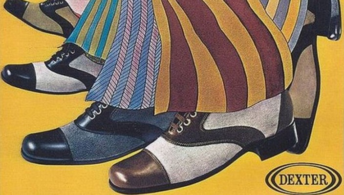 retro shoe adverts