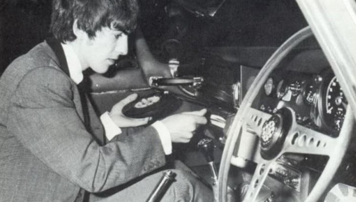 George Harrison In Car Entertainment
