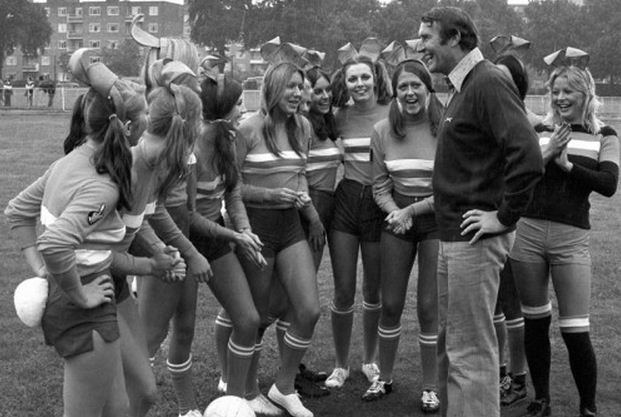 Playboy Bunnies with Malcolm Allison
