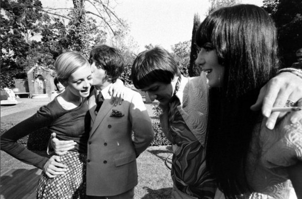 Twiggy with Sonny and Cher at 1967 Party