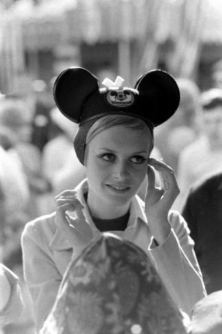 Twiggy with Mickey Mouse Ears