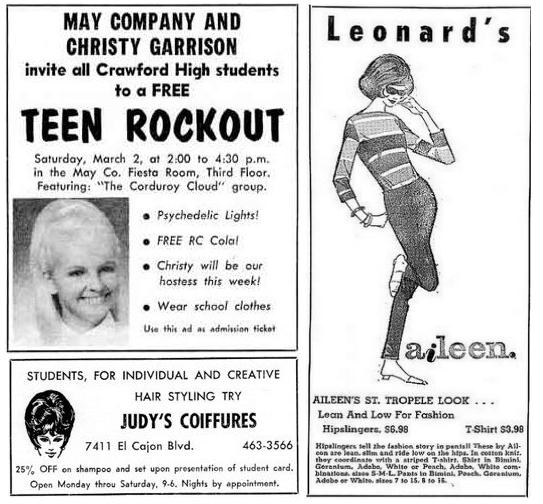 60s High School Ads
