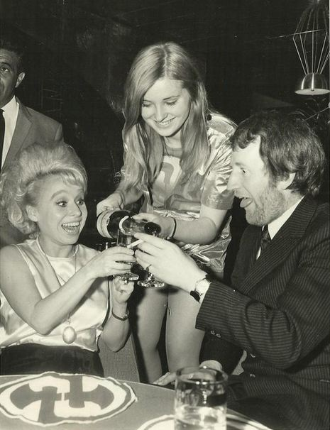 Barbara Windsor and Lance Percival at Hatchetts, London