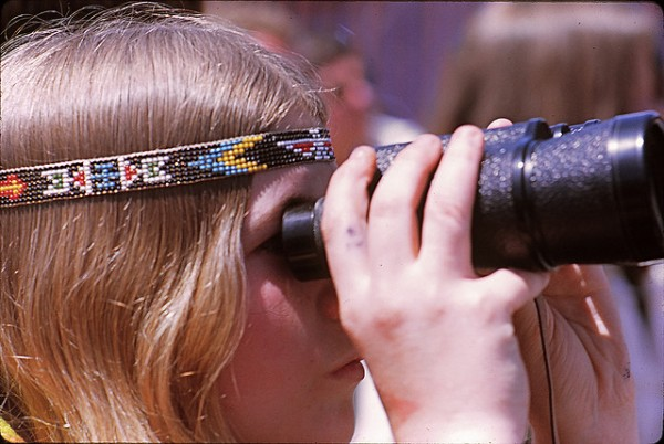 Girl with Binoculars at Toronto Pop Festival 1969