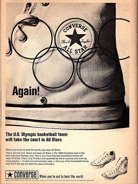 Harlem Globetrotters 1968 Converse Advert