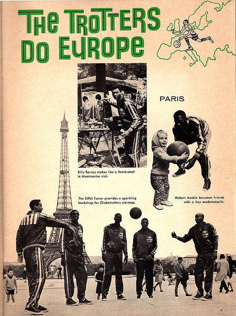 Harlem Globetrotters 1968 Program Europe