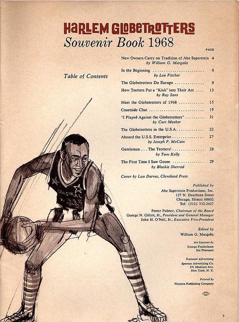 Harlem Globetrotters 1968 Souvenir Book