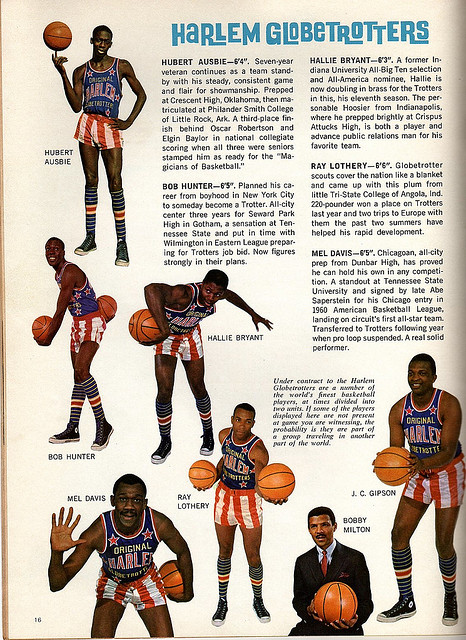 Harlem Globetrotters 1968 Team Program