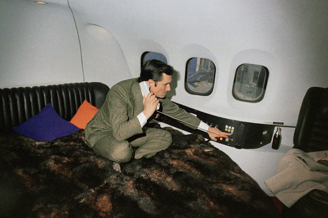 Hugh in the Big Bunny Jet