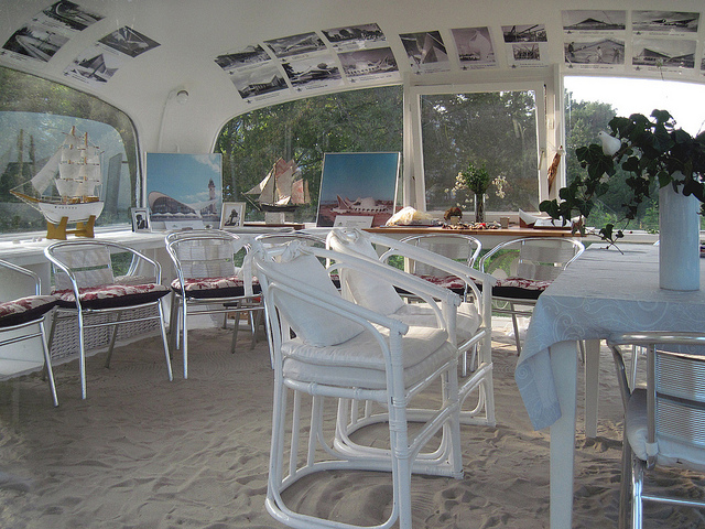 Inside the lifeguard Station Binz