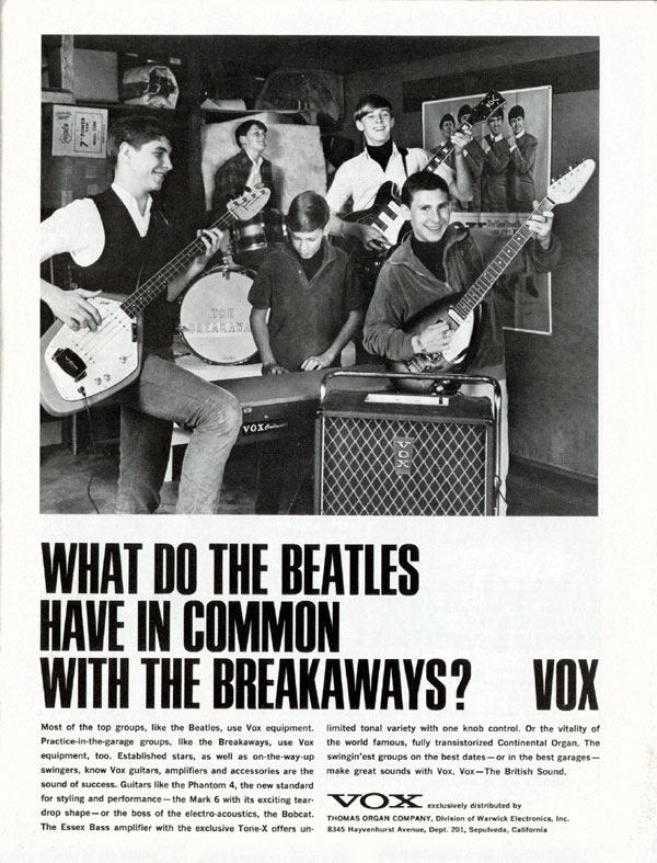 Vox Beatles Advert