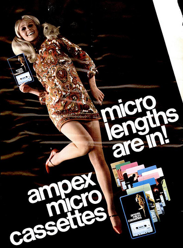 ampex micro cassette advert 1960s