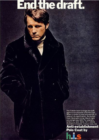 H.I.S 1970s Coat Advert