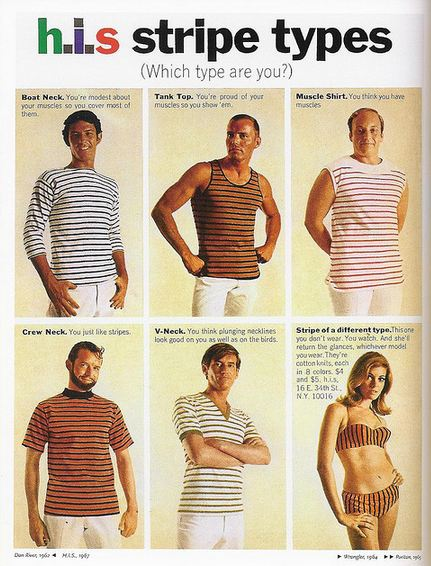 H.I.S Stripe Types Advert 1960s