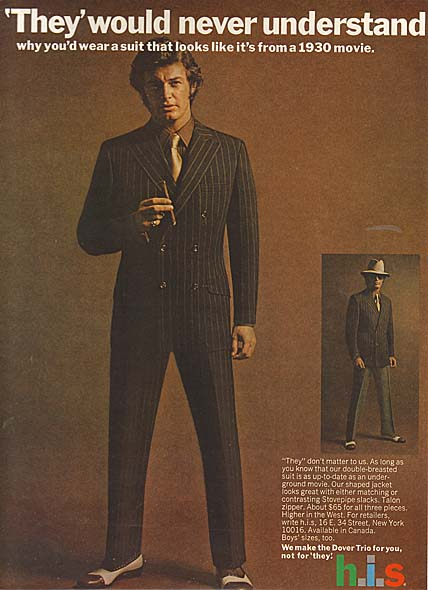 H.I.S Suit Advert