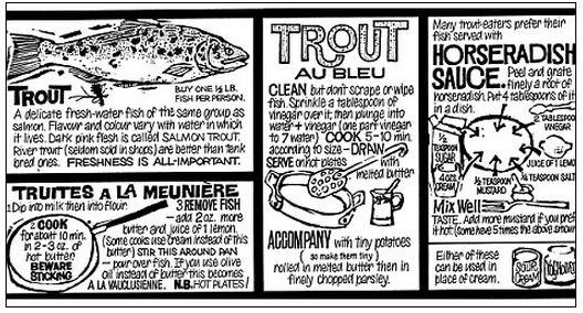 Len Deighton Trout recipe