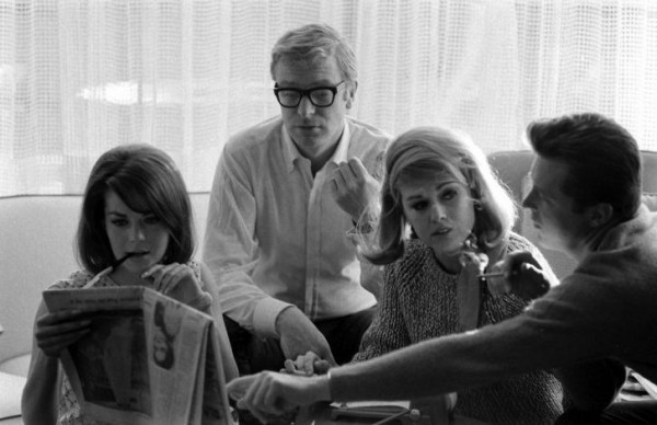 Michael Caine and Natalie Wood 1966 Los Angeles