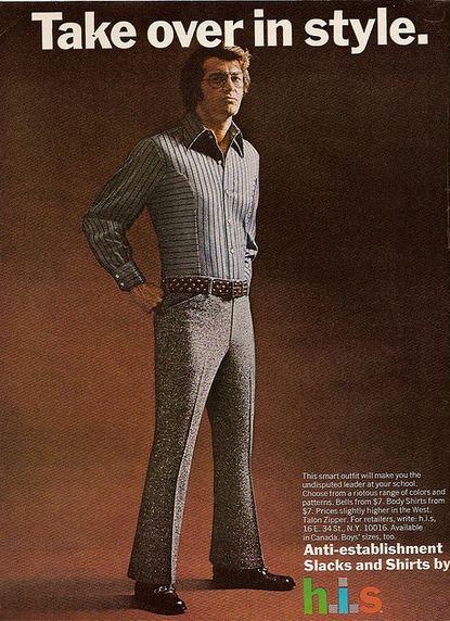 Slacks and Shirts H.I.S Advert