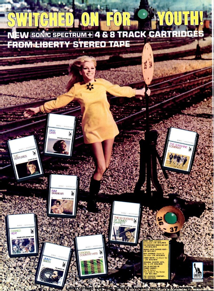 Stereo cassette advert 1960s