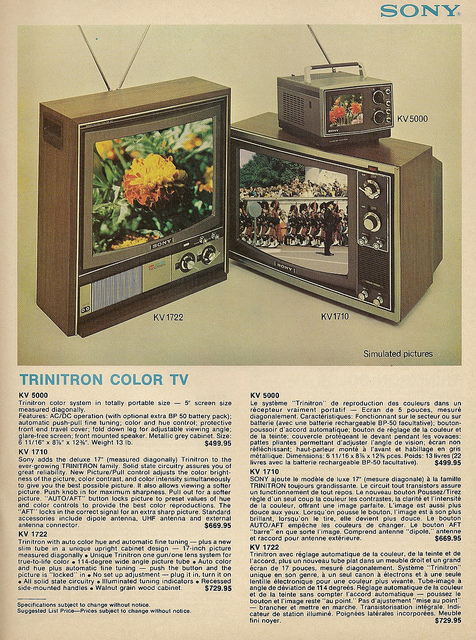trinitron television
