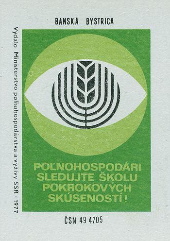Czech Matchbox Label