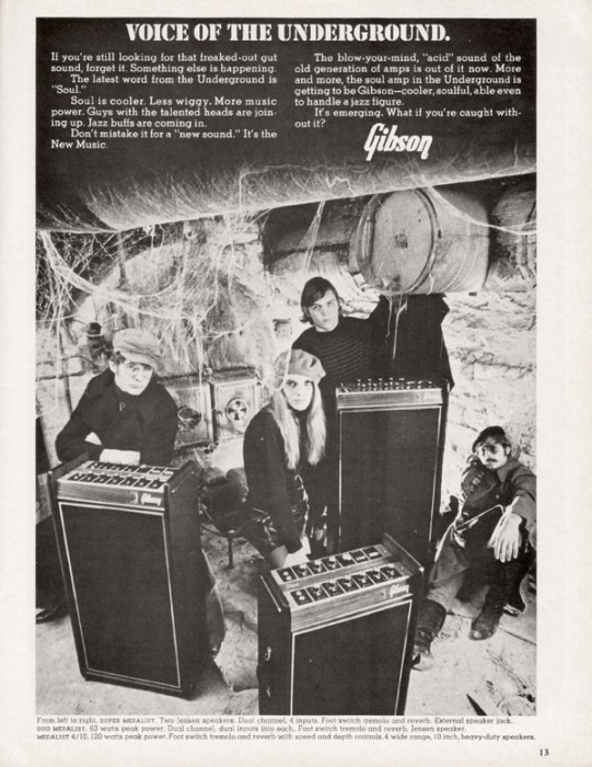 Gibson amp advert
