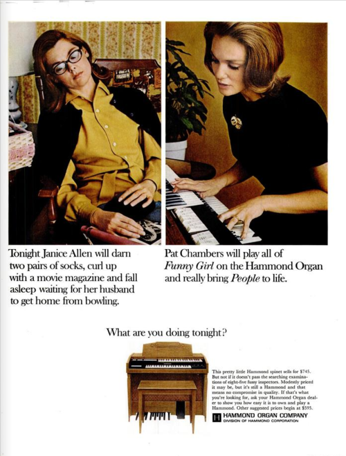 Hammond organ advert