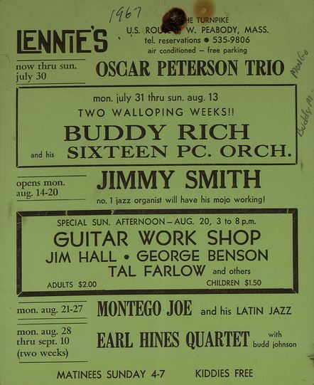 Jimmy Smith, George Benson at Lennie's postcard