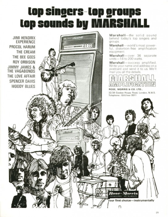 Marshall Amplifier Advertisment