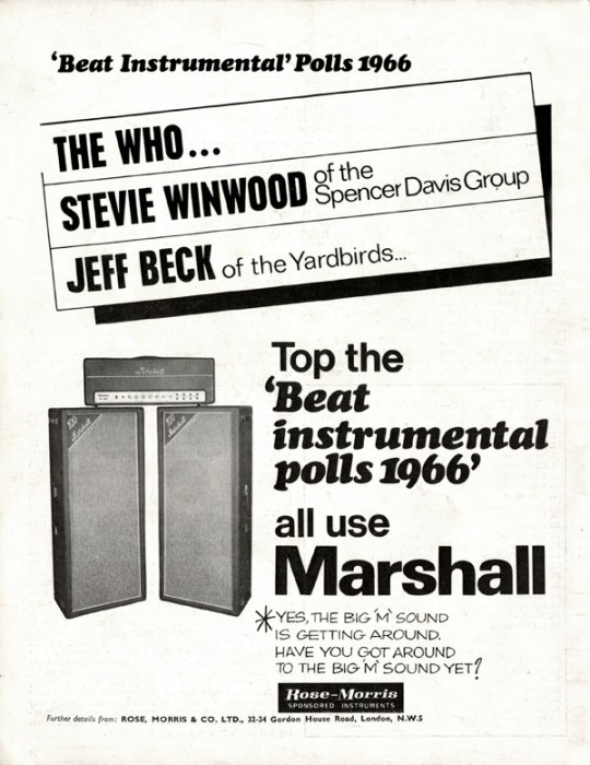 Marshall Amplifier advert
