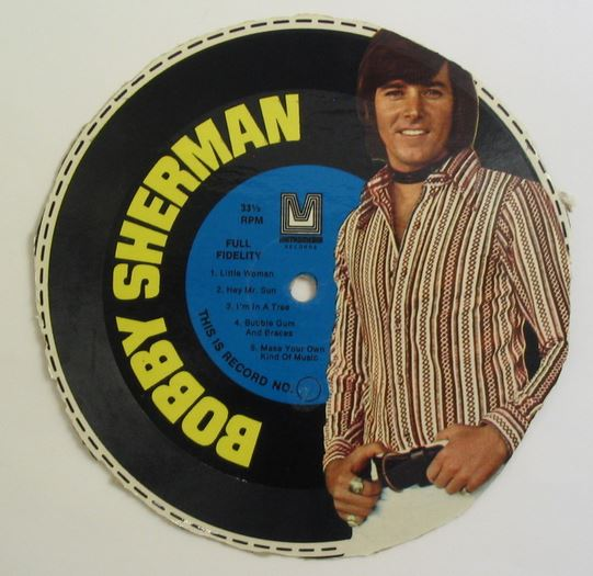 Bobby Sherman Cardboard Record